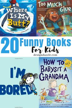 If you're looking for funny books for kids, you're in the right place! We've collected some of the best pieces the kids will enjoy! These are great books that can motivate and inspire them to love reading. And they're real funny too! Funny Books For Kids, Best Children Books, Books For Boys, Childrens Books, Funny Children's Books, Kids Picture Books, Funny Kids, Kids Reading Books, Preschool Books