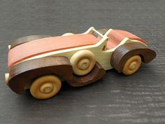 Grand Prix Racer Wood Toy Car Pull Toy Handmade by abby702 on Etsy