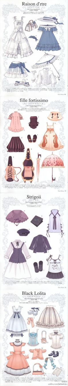Image about fashion in 👔👗👡Clothes 👒👞👙 by Louise Lorenzo Anime Outfits, Cute Outfits, Poses References, Anime Dress, Drawing Clothes, Character Outfits, Lolita Dress, Mode Inspiration, Lolita Fashion