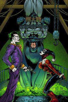 Batman, The Joker & Harley Quinn by Alonso Espinoza