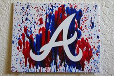 Atlanta Braves Melted Crayon Art by MikeAndKatieMakeArt on Etsy