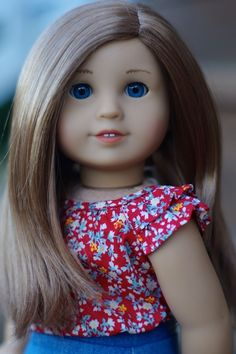 American Girl Doll Custom Jess with #39 caramel wig blue eyes OOAK +outfit