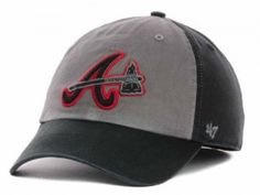 This is the MLB 47 Brand Hat, Gray Undergrad. This hat is a gray base color with the main logo on the front middle. It is a tradition 47 Brand Low Crown design. - Atlanta Braves MLB 47 Brand Hat, Gray Undergrad