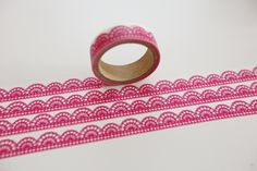 Masking Washi Tape pink Bordüre von washitapes auf DaWanda.com