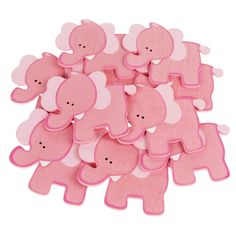 Animal Wooden Baby Favors, 4-inch, 10-pack, Pink Elephant