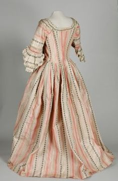 """fripperiesandfobs: """" Robe a l'anglaise ca. 1770-85 From the Leeds Museum and Galleries """""""