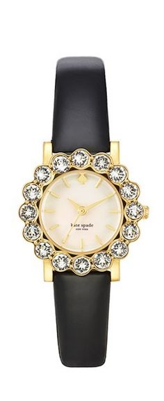 """KATE SPADE NEW YORK """"BELVEDERE"""" Black Patent Leather WATCH *NWT"""