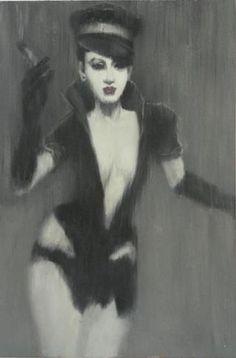 Tøft bilde malt på lerret.   Mål: Bredde 75 cm Høyde 120 cm Nova, Madonna, Catalog, Style, Pictures, Swag, Brochures, Outfits