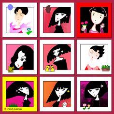 Illustration. Woman
