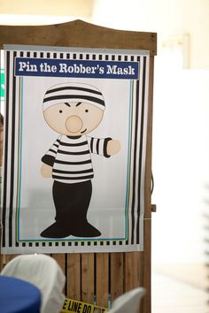 Chase's Cops and Robbers Themed Party – Game Booth