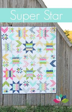 Image of Super Star PDF quilt pattern for sale