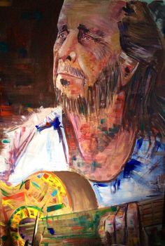 El maestro, la mirada expresiva, el sol en su guitarra, sólo,desprendía color, talento y arte, un genio único, un grande.