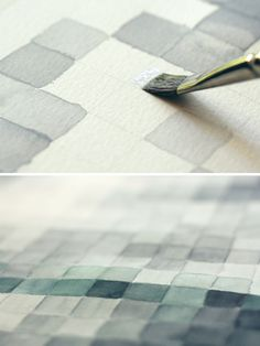 pixelated watercolors