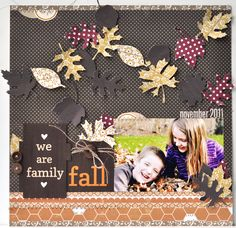Fall layout - love the colors, leaves, etc.  by Amy Heller