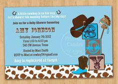 Western baby shower invitation cowboy baby shower western shower cowboy baby shower invitation cowboy baby shower western baby shower rustic baby shower printable cowboy baby shower filmwisefo