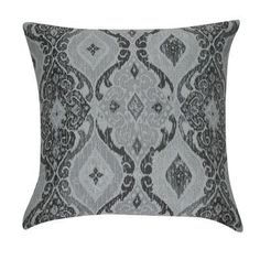 Loom and Mill Damask Decorative Throw Pillow Color: Gray