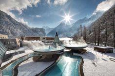 The Aqua Dome, a thermal spa luxury resort - Oberlängenfeld, Tirol, Austria