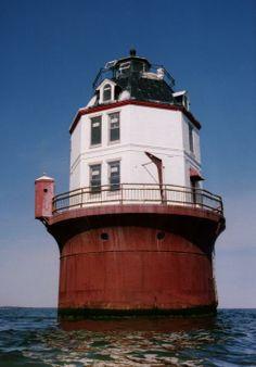Point No Point Lighthouse, Chesapeake Bay, Maryland / photography by Wayne Higgs/ Fine Art America