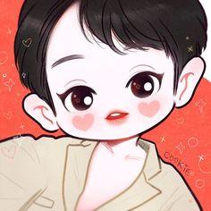 Chanyeol so cute 😆 Exo Cartoon, Cartoon Art, Exo Stickers, Chibi Body, Nct, Exo Anime, Exo Fan Art, Exo Chanyeol, Cute Chibi
