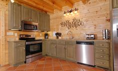 Blue Mountain Lodge vacation rental cabin - updated fully equipped kitchen