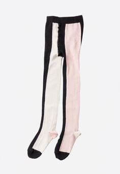 Vertical Multicolour Tights Pink