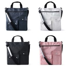 It's a daily tote bag with a clean and simple design. Carry your daily items in the spacious compartment and also organize the items in the various pockets! * Exterior Features ** 2 Velcro Pockets in different sizes ** 1 Zippered Pocket ** Business Travel Outfits, Grey Bags, Laptop Tote Bag, Cute Tote Bags, Simple Bags, Diaper Bag, Purses And Bags, Pouch, Shoulder Bag