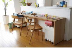 【奥行50cm】多サイズから選べる デスクとしても使えるカウンターテーブル / 家具・インテリア通販 暮らしのデザイン Study Space, Minimalist Home, New Kitchen, Corner Desk, Architecture, Interior, Table, Room, Furniture