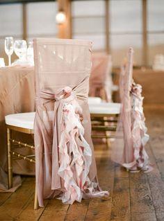 dusty rose wedding chair ruffles