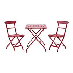 For the front porch; MÄLARÖ, Table+2 chairs, outdoor, red