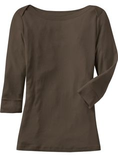Women's 3/4-Sleeve Boat-Neck Tops Product Image