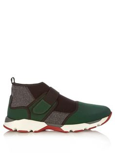 Marni Colour-block high-top trainers