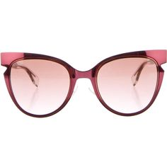 62fffa4b3ea0 Pre-owned Fendi Cat-Eye Tinted Sunglasses ( 195) ❤ liked on Polyvore  featuring accessories