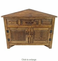 cabinet ideas living room Small Rustic Wood Corner Cabinet with Two Doors Diy Rustic Decor, Diy Home Decor Easy, Home Decor Hacks, Affordable Home Decor, Rustic Wood, Decor Ideas, Salvaged Wood, Farmhouse Decor, Bedroom Furniture Redo