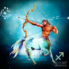 Scorpio Digital Art - Horoscope Signs-sagittarius by Bedros Awak
