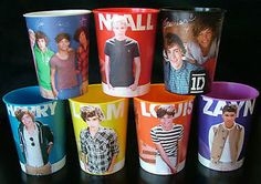 ONE DIRECTION PARTY IDEAS | about 7 ONE DIRECTION Plastic 16 oz CUPS Collectible 1D Birthday Party ...