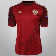 Netshoes -  Camisa Adidas Seleção Rússia Home 2014 s/nº
