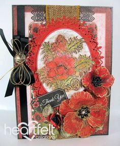 Heartfelt Creations | Orange Poppy Thank You