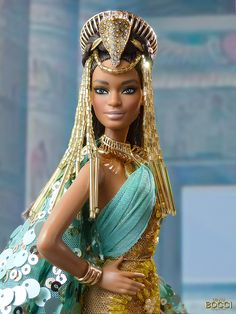 """Cleopatra"" by David Bocci African American Beauty, African American Dolls, Barbie Style, Barbie Dress, Barbie Clothes, Original Barbie Doll, Beautiful Barbie Dolls, Black Barbie, Barbie Friends"