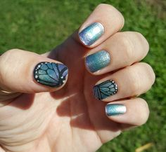Jamberry on Hands | Behind the Designs Ombre and Butterfly Dream