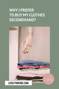 Buying secondhand and vintage clothes is an easy and surprisingly satisfying action you can take in being more sustainable. Our wardrobes can not only feel and look good but also do good on a global scale. I have listed 5 reasons why I love to buy my clothes secondhand!  #vintagefashion #vintageshop #secondhandonline #etsyseller Ethical Fashion, Slow Fashion, Buy My Clothes, Vintage Outfits, Vintage Fashion, Second Hand Online, Second Hand Clothes, Cheap Fashion, Wardrobes