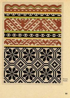 Fair Isle Knitting Patterns, Knitting Machine Patterns, Knitting Charts, Loom Patterns, Craft Patterns, Knitting Stitches, Knitting Designs, Mittens Pattern, Knit Mittens