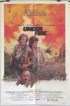 UNDER FIRE - NICK NOLTE/ED HARRIS/GENE HACKMAN - ORIGINAL USA 1SHT MOVIE POSTER