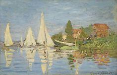 1872 / Claude Monet / Regatta at Argenteuil  (Musee d'Orsay)