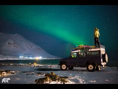 Northern Lights and a Land Rover Defender