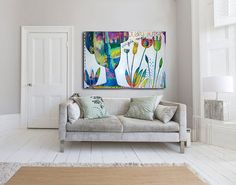 Large Original Abstract Painting  Anniversary Gift by MirnaSisul