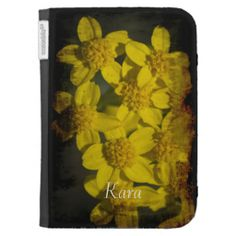 Grungy Yellow Wildflowers Kindle Case by Florals by Fred #zazzle #gift #photogift #ereader #kindle