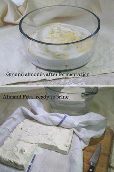 Vegan Feta Recipe: First a fermentation, then the cheese is set with agar agar