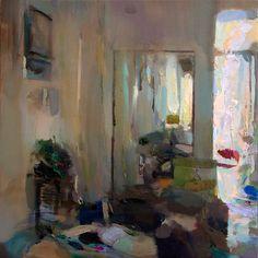 Interior #118 - Oil on canvas, 50x50 cm. Private collection.