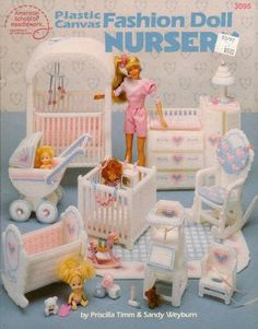Plastic Canvas Barbie Nursery.. this is super ambitious and so cute!!
