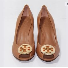 Tory Burch Peep Toe Sally wedge authentic and in good condition Tory Burch Shoes